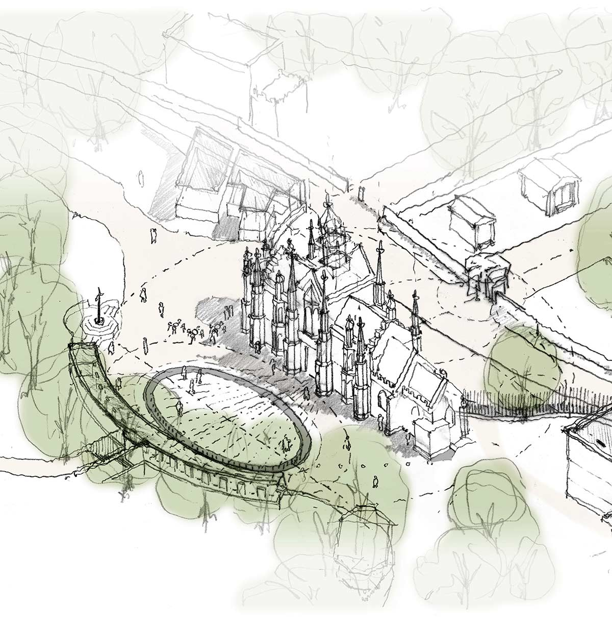 Hopkins Architects Chapel Sketch